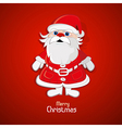Santa Claus on red background vector image vector image