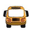 school bus student transport sketch vector image vector image