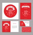 set corporate branding christmas sweet drink vector image vector image