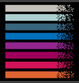 set modern color pixel web banners for headers vector image