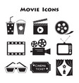 set movie icons vector image