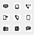 set of 9 editable device icons includes symbols vector image vector image
