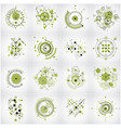 set of abstract green backgrounds created in vector image