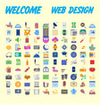 set of icons quality universal pack big icon vector image