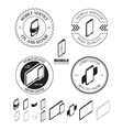 Set of mobile repair service logos labels badges vector image vector image