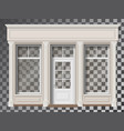 shop front with column transparent window vector image vector image