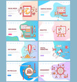 social media graphic and management website vector image vector image