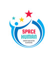 Space human character - concept business logo sign