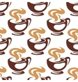 Steaming coffee cups or chocolate seamless pattern vector image vector image