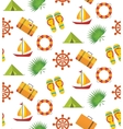 Summer holiday seamless pattern vector image