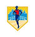 Triathlete Marathon Runner Retro vector image vector image
