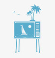 tv and vacation vector image