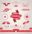 Valentines Day set design elements vector image vector image