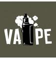 Vape device and smoke on grey vector image vector image
