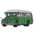 vintage green and cream bus vector image vector image