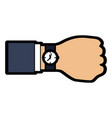 watch with hand time icon imag vector image