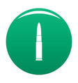 weapon cartridge icon green vector image