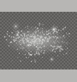 white sparks and stars shine with light dust vector image vector image