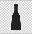 wine bottle icon in flat style alcohol bottle on vector image vector image