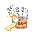 with menu easter cake mascot cartoon vector image vector image