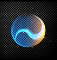 abstract glowing lines in sphere vector image vector image