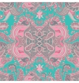 Abstract seamless pattern with abstract flowers vector image