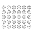 Active sport games linear icons set vector image vector image