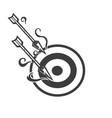 arrow mascot logo design black and white version vector image