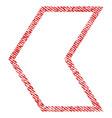 arrowhead left fabric textured icon vector image vector image