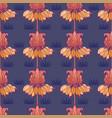 art nouveau seamless flower pattern vector image vector image