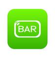 bar board icon green vector image