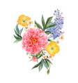 beautiful floral bouquet composition with vector image