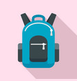 bike backpack icon flat style vector image