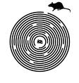 Black maze puzzle vector image vector image