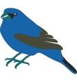 Blue bird 01 vector image vector image
