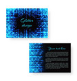 bright pamphlet with neon light vector image vector image