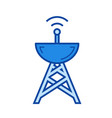 broadcasting line icon vector image vector image
