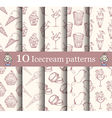 cake seamless patterns set vector image vector image