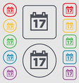 Calendar Date or event reminder icon sign symbol vector image vector image