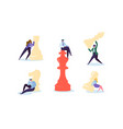 characters playing chess business strategy concept vector image vector image