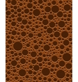 Chocolate bubbles seamless texture vector image