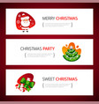 christmas horizontal banners set vector image
