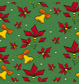 christmas pattern with bells and vector image