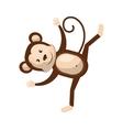 Circus monkey animal cartoon design vector image vector image