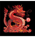 collection of mascots red dragon vector image vector image