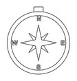 compass line black icon vector image vector image
