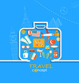 Concept of the travel vector image vector image