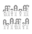 cute family hand drawn image vector image vector image