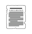 declaration black icon vector image vector image