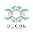 decor original logo design creative sign for vector image vector image